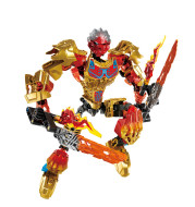 Boy building block toy