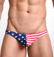 American flag printed thongs