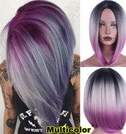 Three-color gradient mid-centre ladies wig cover