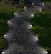 Solar Waterproof Outdoor Cobble Stone Lamp Decoration for Lawn Yard