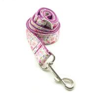 Purple flower dog leash