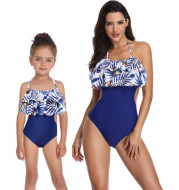 Printed one-piece swimsuit