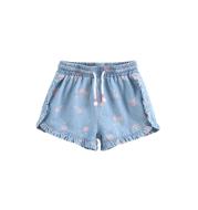 Girls' cherry cherry cotton denim shorts