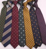 Men's Polyester Striped Flower Fashion Business Formal Tie