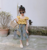 Girl's two-piece pineapple dress