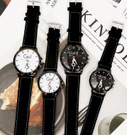 Retro personality simple female watch