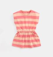 Girl's striped short-sleeved dress