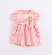 Girl's yarn-dyed striped dress