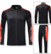 Stand collar long sleeve casual running sports suit