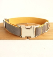 Pet denim collar handmade dog collar