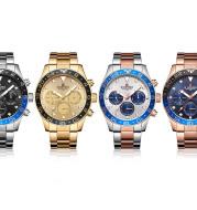 Men's Steel Band Watch Calendar Waterproof Quartz Watch