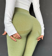 Elastic tight yoga pants high waist hip fitness pants