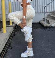 Fashion street lamb cashmere ladies sports casual pants