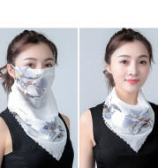 Hanging Ear Thin Face-covering Scarf Triangle Veil Scarf