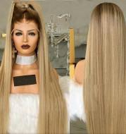 Linen with long straight hair Headgear