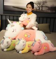 Fantasy Star Unicorn Doll Down Cotton Soft Body Lying Posture Pillow Plush Toys Children Sleeping Pillow