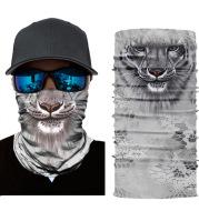 Sunscreen scarf animal tiger print riding