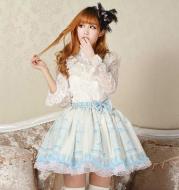 Sweet princess skirt cage nightingale lolita half skirt loli skirt