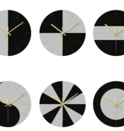 Tempered glass wall clock