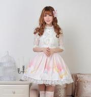 Sweet Princess Pleated Lolita Lace Skirt Skirt