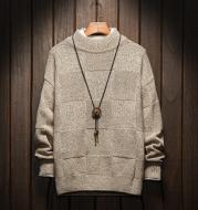Men's half turtleneck sweater
