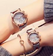 Small dial ladies calendar belt watch