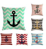 Anchor linen pillowcase