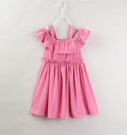 Pleated hanging ruffled dress