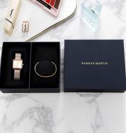Square cardboard watch box