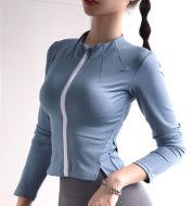 Tight elastic breathable cardigan training running quick-drying yoga clothes jacket