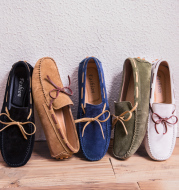 Summer new leather peas shoes