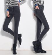 Women's thickened velvet jeans