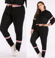 Women's pants with large size waistband