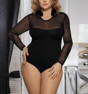 Lace long-sleeved corset bodysuit pajamas