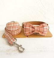 Bowknot dog leash suit