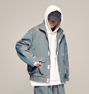 Spring's new reflective jacket with a colorful gradient