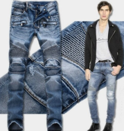 Shredded Slim Straight Jeans