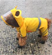 Teddy Corgi waterproof four-legged dog raincoat