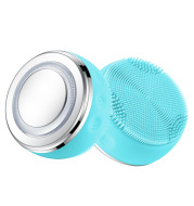Electric Facial Cleansing Brush Ultrasonic Cleaning Brush Silicone Face Massager Beauty Machine Blackhead Remover Deep Clean