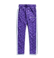 Printed three-bar retro sports pants