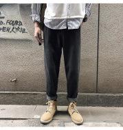 Hong Kong style wide-leg pants jeans