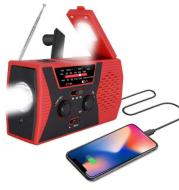 5 in 1 Outdoor Portable Solar Crank AM FM Radio