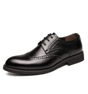 Brock carved men's casual leather shoes