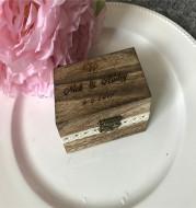 Personalized custom wedding engagement ring box