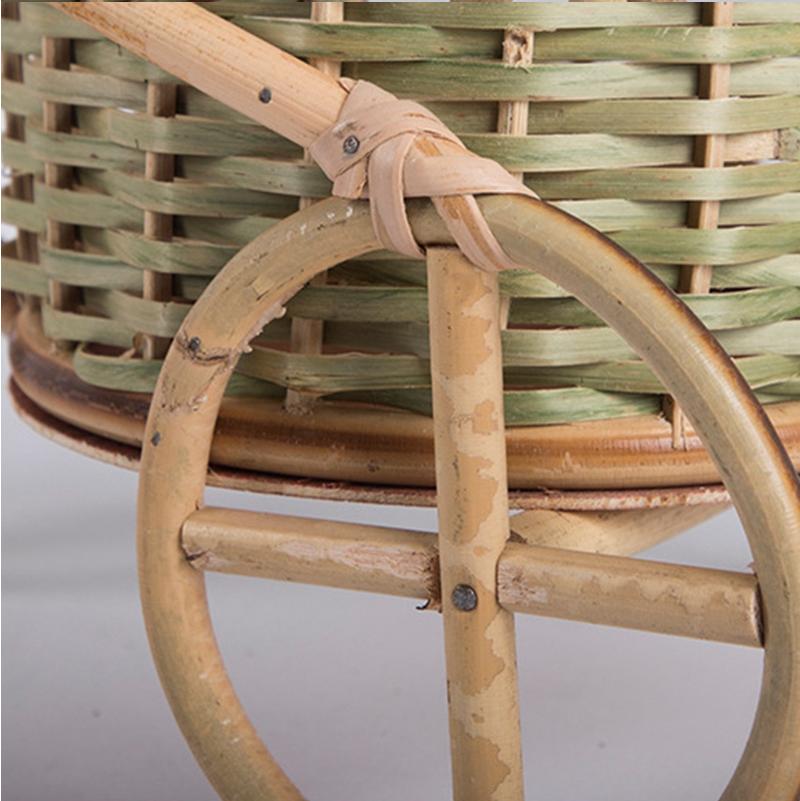 Hand-Made Bamboo Fruit Basket Decoration