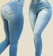 Cross border high waist elastic slim pants
