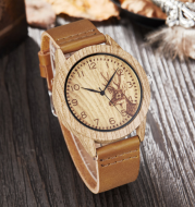 Fashionable elk light brown wood table