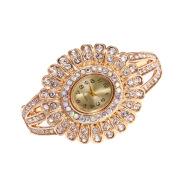 Women's watch with diamond bracelet