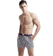 Men's beach pants loose striped navy