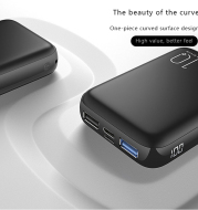 Quick charge display mobile power supply